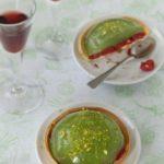 Tartelettes au concombre, framboises et pamplemousse