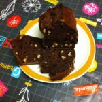 Gâteaux aux noix, rhum, chocolat