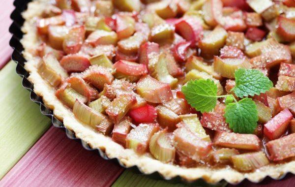 Tarte à la rhubarbe sans gluten