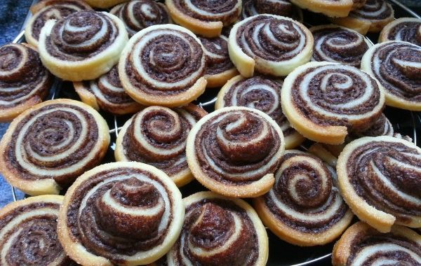 Spirales feuilletées au Nutella