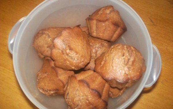 Muffins chocolat pralinoise noir et noix de coco