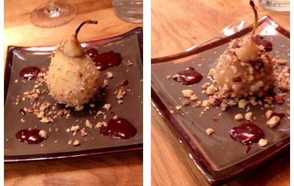 Poire surprise au coeur coulant chocolat