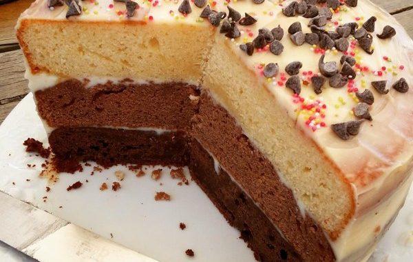 Layer cake aux trois chocolats