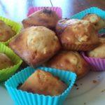 Muffins chocolat blanc pomme et cannelle
