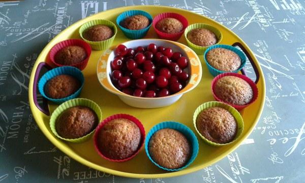 Muffins à la cerise et sirop de coquelicot