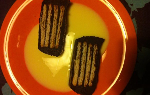 Terrine de chocolat et petits beurre