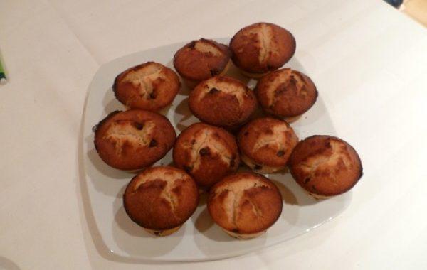 Muffins au Monbazillac et pépites de chocolat