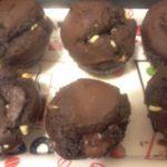 Muffins aux 2 chocolats, caramel et pâte à tartiner