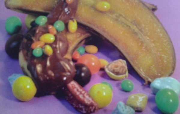 Banane au chocolat et smarties