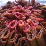Rouleaux de crêpes bicolores