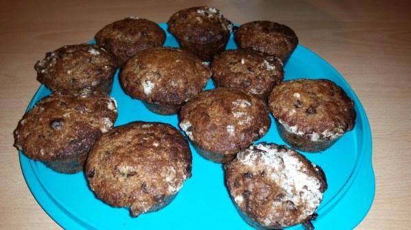 Muffins pépites de chocolat et coeur nutella