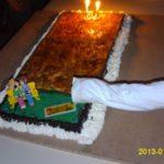 Gâteau au chocolat terrain de pétanque
