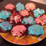 Muffin coeur fondant avec glaçage