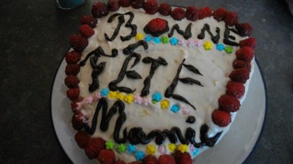 Gâteau fraises et chocolat