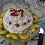 Gâteau d'anniversaire aux framboises