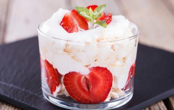 Chantilly à la fraise