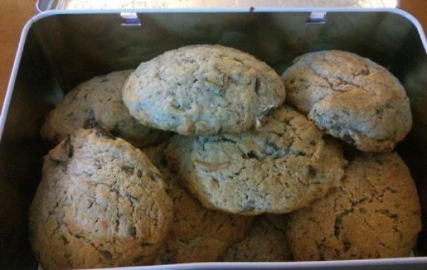 Cookies aux framboises et pépites de chocolat