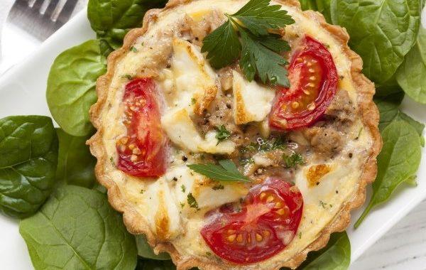 Quiche thon, tomates et mozzarella