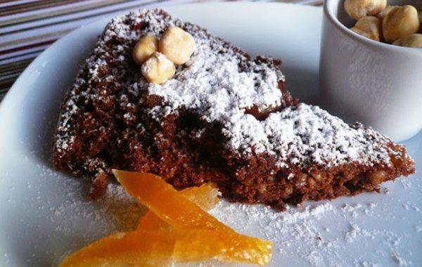 Gâteau chocolat noisettes et orange confite
