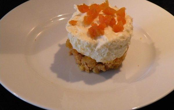 Gâteau au chocolat blanc et aux abricots secs