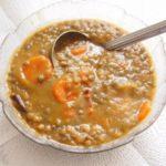 Soupe de lentilles vertes au lard
