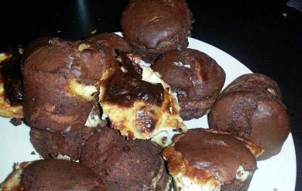 Muffins chocolats bananes mascarpone