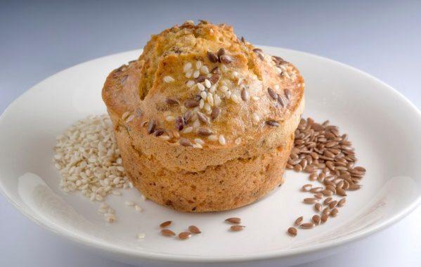 Muffins à l'huile de sésame et graines
