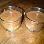 Verrine douceurs poire chocolat et madeleine