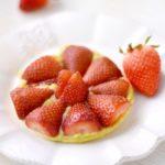 Tartelette aux fraises et rhubarb'curd