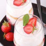 Tiramisu à la fraise sans mascarponne