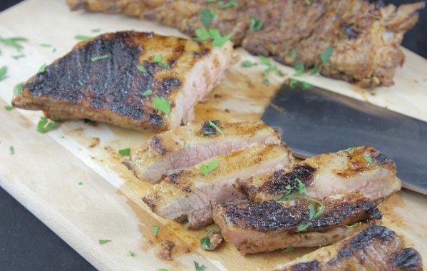 Travers de porc à la texane / loin ribs