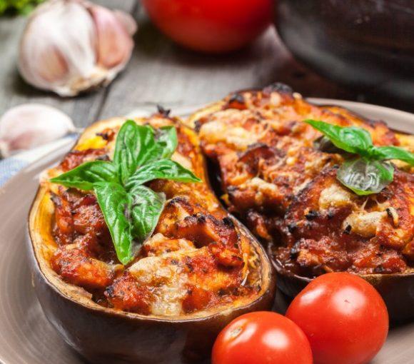 Aubergines farcies (aux légumes ou mixte)