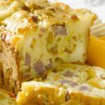 Cake au chèvre et lardons