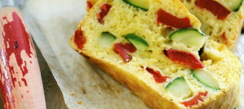 Cake courgettes et poivrons