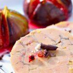 Foie gras au cacao, figues rôties au miel et vinaigre balsamique