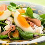 Salade composée au jambon cru