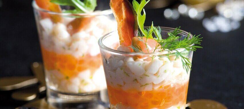 Tartare de Saint Jacques aux œufs de saumon