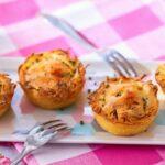 Tartelettes rösti au cheddar et ciboules