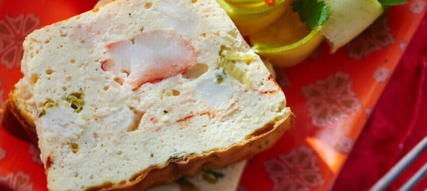 Terrine de crabe à la créole & salade de mangue verte