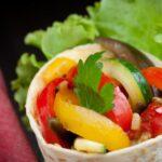 Wraps de légumes, sauce fraîcheur