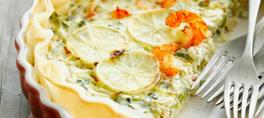 Tarte fine aux poireaux, coco et citron vert