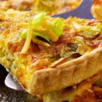 Tarte fine aux poireaux et curry doux