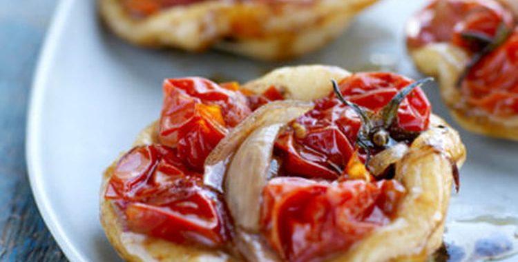 Mini pizzas aux tomates cerise