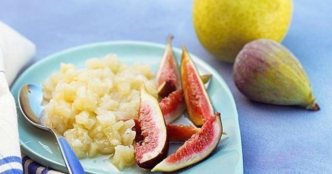 Compote légère aux poires et aux figues