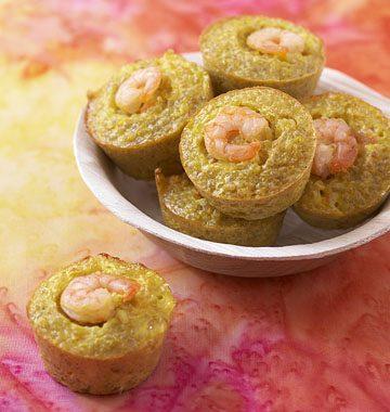 Bouchées de quinoa aux crevettes safranées