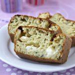 Cake au chèvre, courgette et coriandre