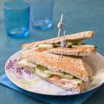 Club sandwich au saumon fumé
