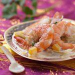 Crevettes au lait de coco et coriandre