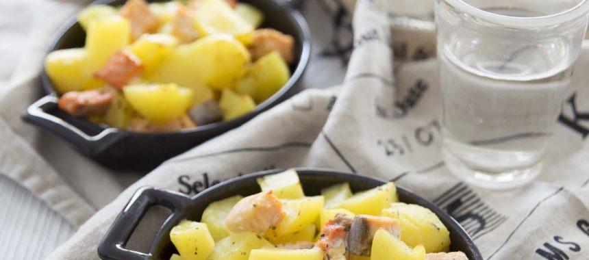 Gratins de saumon aux pommes de terre