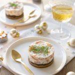 Cheesecake au saumon fumé et caviar d'aubergine